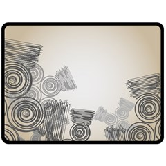 Background Retro Abstract Pattern Fleece Blanket (Large)