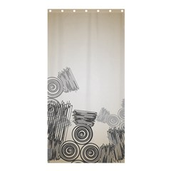 Background Retro Abstract Pattern Shower Curtain 36  x 72  (Stall)