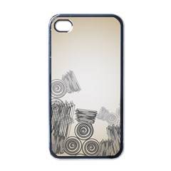 Background Retro Abstract Pattern Apple iPhone 4 Case (Black)