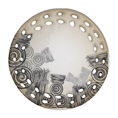 Background Retro Abstract Pattern Round Filigree Ornament (Two Sides)