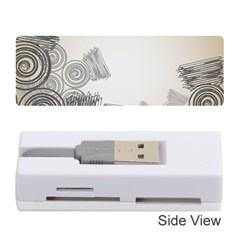 Background Retro Abstract Pattern Memory Card Reader (Stick)