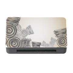 Background Retro Abstract Pattern Memory Card Reader with CF