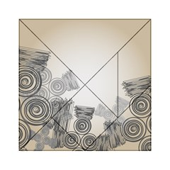 Background Retro Abstract Pattern Acrylic Tangram Puzzle (6  x 6 )