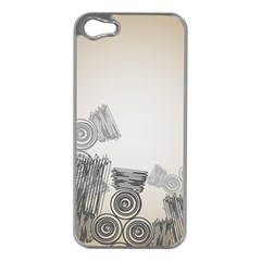Background Retro Abstract Pattern Apple iPhone 5 Case (Silver)