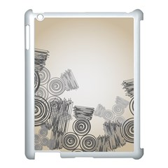 Background Retro Abstract Pattern Apple iPad 3/4 Case (White)