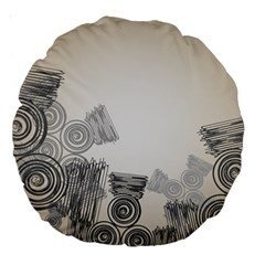 Background Retro Abstract Pattern Large 18  Premium Round Cushions