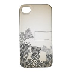 Background Retro Abstract Pattern Apple Iphone 4/4s Hardshell Case With Stand
