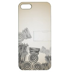 Background Retro Abstract Pattern Apple Iphone 5 Hardshell Case With Stand