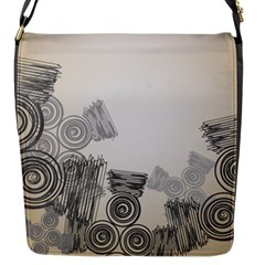Background Retro Abstract Pattern Flap Messenger Bag (S)