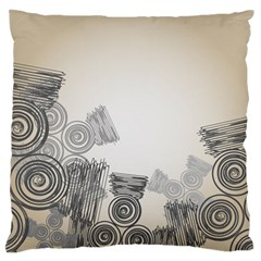 Background Retro Abstract Pattern Large Flano Cushion Case (one Side)