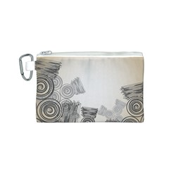 Background Retro Abstract Pattern Canvas Cosmetic Bag (S)