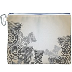 Background Retro Abstract Pattern Canvas Cosmetic Bag (XXXL)