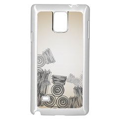 Background Retro Abstract Pattern Samsung Galaxy Note 4 Case (White)