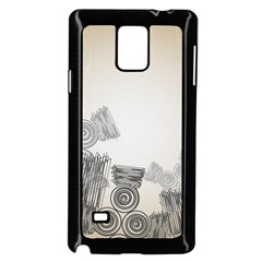 Background Retro Abstract Pattern Samsung Galaxy Note 4 Case (black)