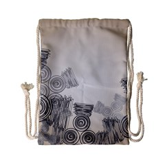 Background Retro Abstract Pattern Drawstring Bag (small)
