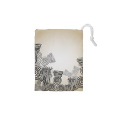 Background Retro Abstract Pattern Drawstring Pouches (XS)