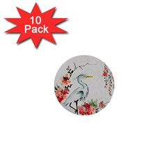 Background Scrapbook Paper Asian 1  Mini Buttons (10 Pack)
