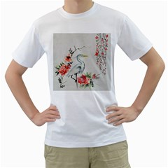 Background Scrapbook Paper Asian Men s T Shirt (white) (two Sided)