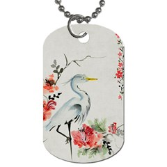 Background Scrapbook Paper Asian Dog Tag (Two Sides)