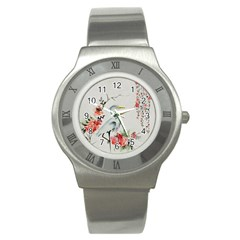 Background Scrapbook Paper Asian Stainless Steel Watch