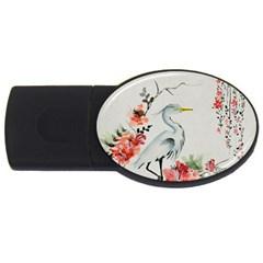 Background Scrapbook Paper Asian Usb Flash Drive Oval (4 Gb)