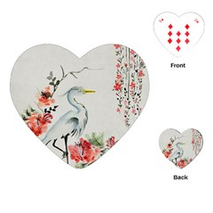 Background Scrapbook Paper Asian Playing Cards (Heart)