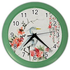 Background Scrapbook Paper Asian Color Wall Clocks