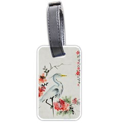 Background Scrapbook Paper Asian Luggage Tags (Two Sides)