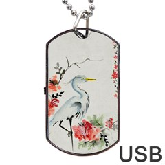 Background Scrapbook Paper Asian Dog Tag USB Flash (Two Sides)