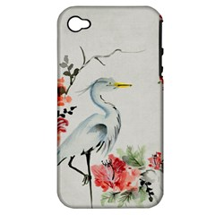 Background Scrapbook Paper Asian Apple iPhone 4/4S Hardshell Case (PC+Silicone)