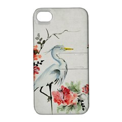 Background Scrapbook Paper Asian Apple iPhone 4/4S Hardshell Case with Stand