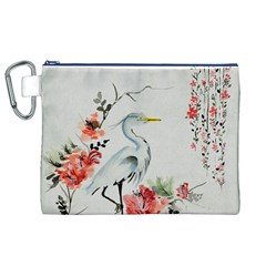 Background Scrapbook Paper Asian Canvas Cosmetic Bag (xl)