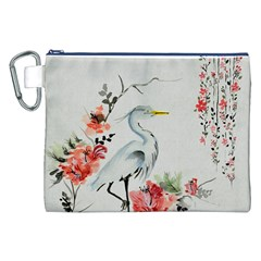 Background Scrapbook Paper Asian Canvas Cosmetic Bag (XXL)