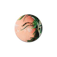 Background Stone Wall Pink Tree Golf Ball Marker (10 pack)