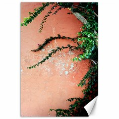 Background Stone Wall Pink Tree Canvas 20  x 30