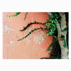 Background Stone Wall Pink Tree Large Glasses Cloth