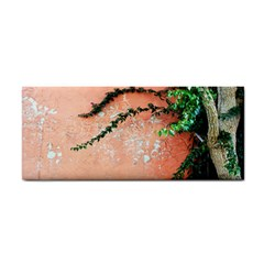Background Stone Wall Pink Tree Cosmetic Storage Cases
