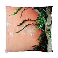 Background Stone Wall Pink Tree Standard Cushion Case (One Side)