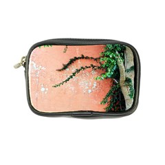 Background Stone Wall Pink Tree Coin Purse