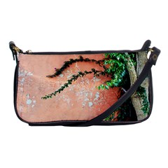 Background Stone Wall Pink Tree Shoulder Clutch Bags