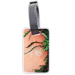 Background Stone Wall Pink Tree Luggage Tags (One Side)