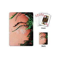 Background Stone Wall Pink Tree Playing Cards (Mini)