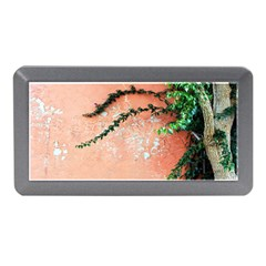 Background Stone Wall Pink Tree Memory Card Reader (Mini)