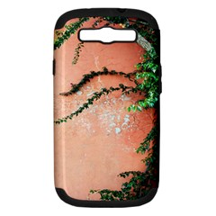 Background Stone Wall Pink Tree Samsung Galaxy S Iii Hardshell Case (pc+silicone)