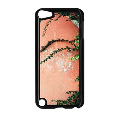 Background Stone Wall Pink Tree Apple Ipod Touch 5 Case (black)