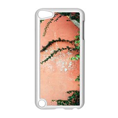 Background Stone Wall Pink Tree Apple iPod Touch 5 Case (White)