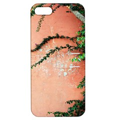 Background Stone Wall Pink Tree Apple iPhone 5 Hardshell Case with Stand