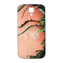 Background Stone Wall Pink Tree Samsung Galaxy S4 I9500/i9505  Hardshell Back Case
