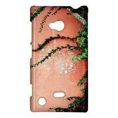 Background Stone Wall Pink Tree Nokia Lumia 720