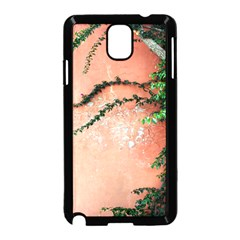 Background Stone Wall Pink Tree Samsung Galaxy Note 3 Neo Hardshell Case (Black)